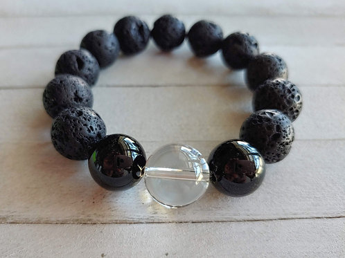 Black Agate Anxiety Relief Aromatherapy Bracelet