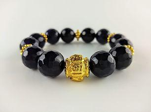 Purple Agate Anxiety Relief Om bracelet