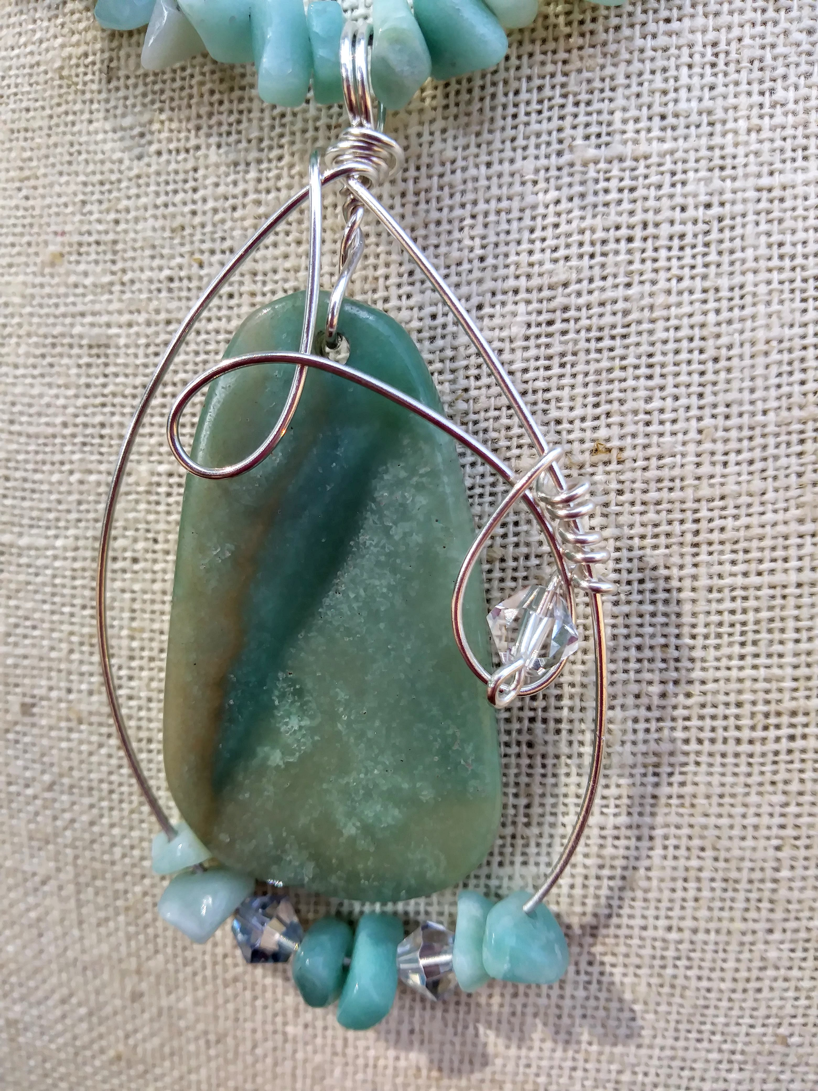 """Ocean of Truths"" Amazonite Necklace"