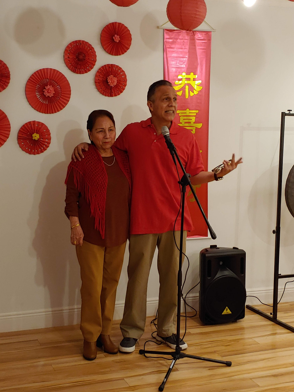 Shifu Orlando and his mother Aida.
