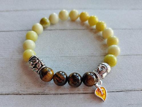 Serpentine & Tiger Eye Meditation Bracelet