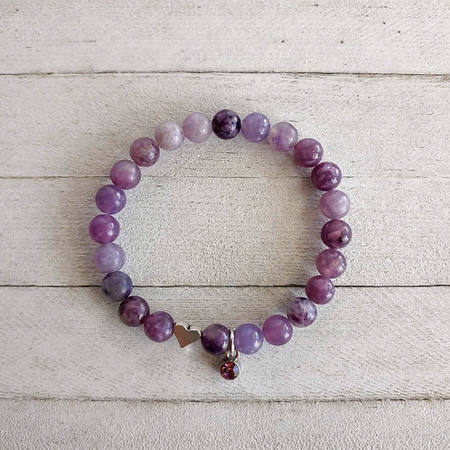 Lepidolite Grief & Anxiety Relief Bracelet.