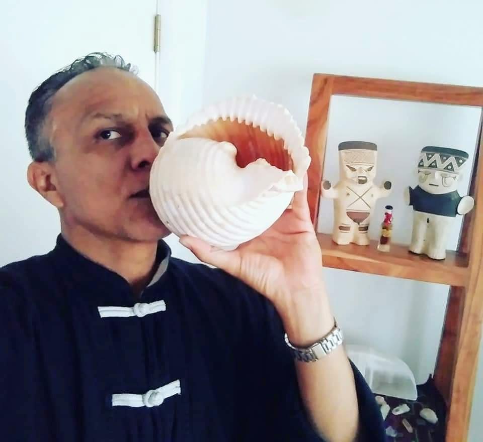 Pututu a Peruvian shamanic instrument.