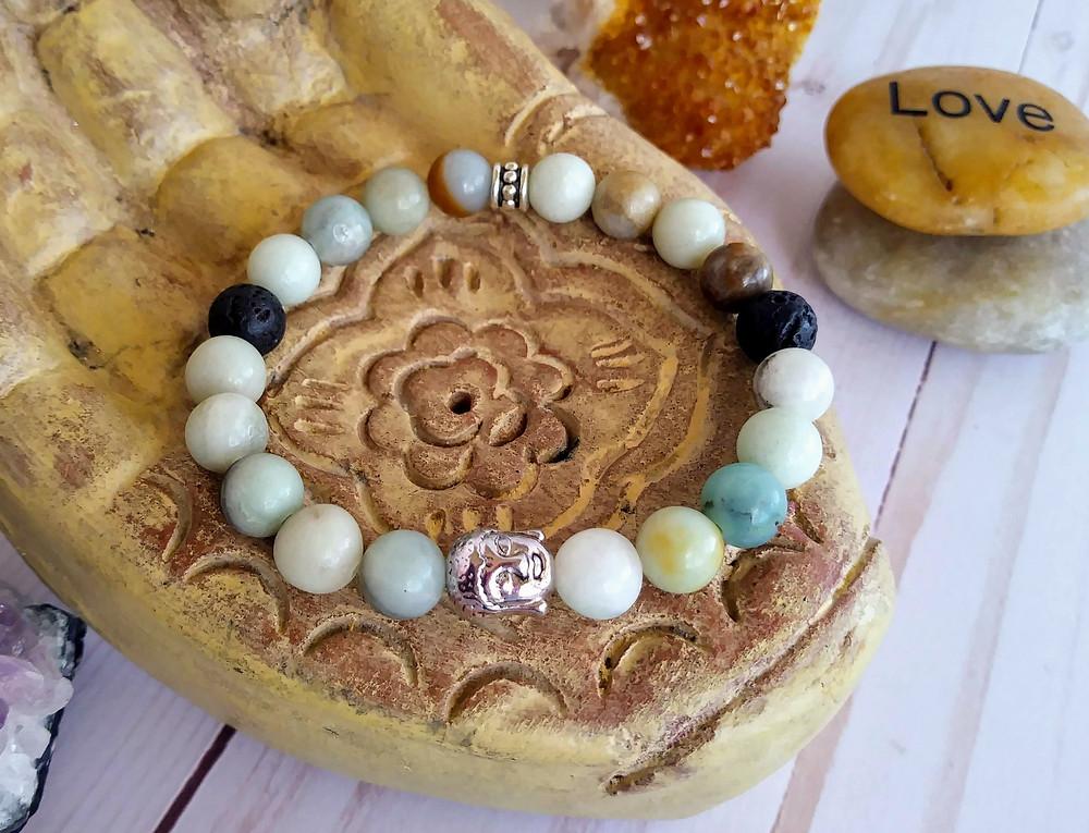 Amazonite Bracelet.  Heart and Throat chakras.