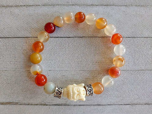 Carnelian Buddha Meditation Bracelet