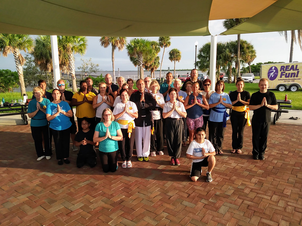 Taijiquan & QiGong family who participated in our Summer Fire QiGong special class.