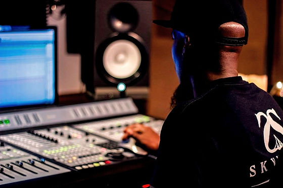 Sonny King engineering in a professional studio