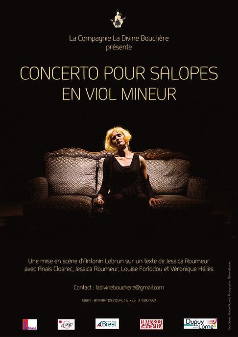 Concerto pour salopes en viol mineur, Cie La Divine Bouchère, Jessica Roumeur, Louise Forlodou, Antonin Lebrun, Anaïs Cloarec, Véronique Héliès