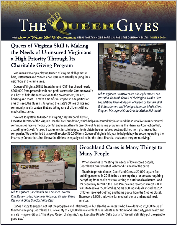 The Queen Gives - Winter 2019 - Page 1.p