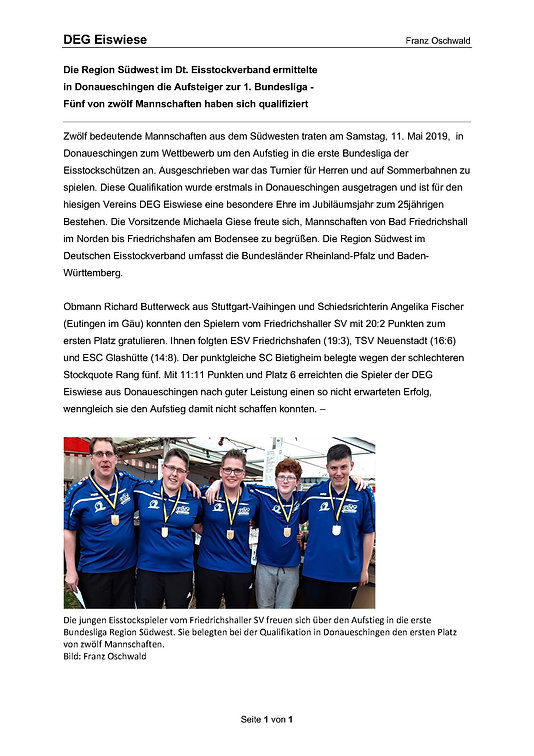 DEG Bericht Qualifikation Bundesliga 130