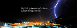 Lightning warning system banner wide