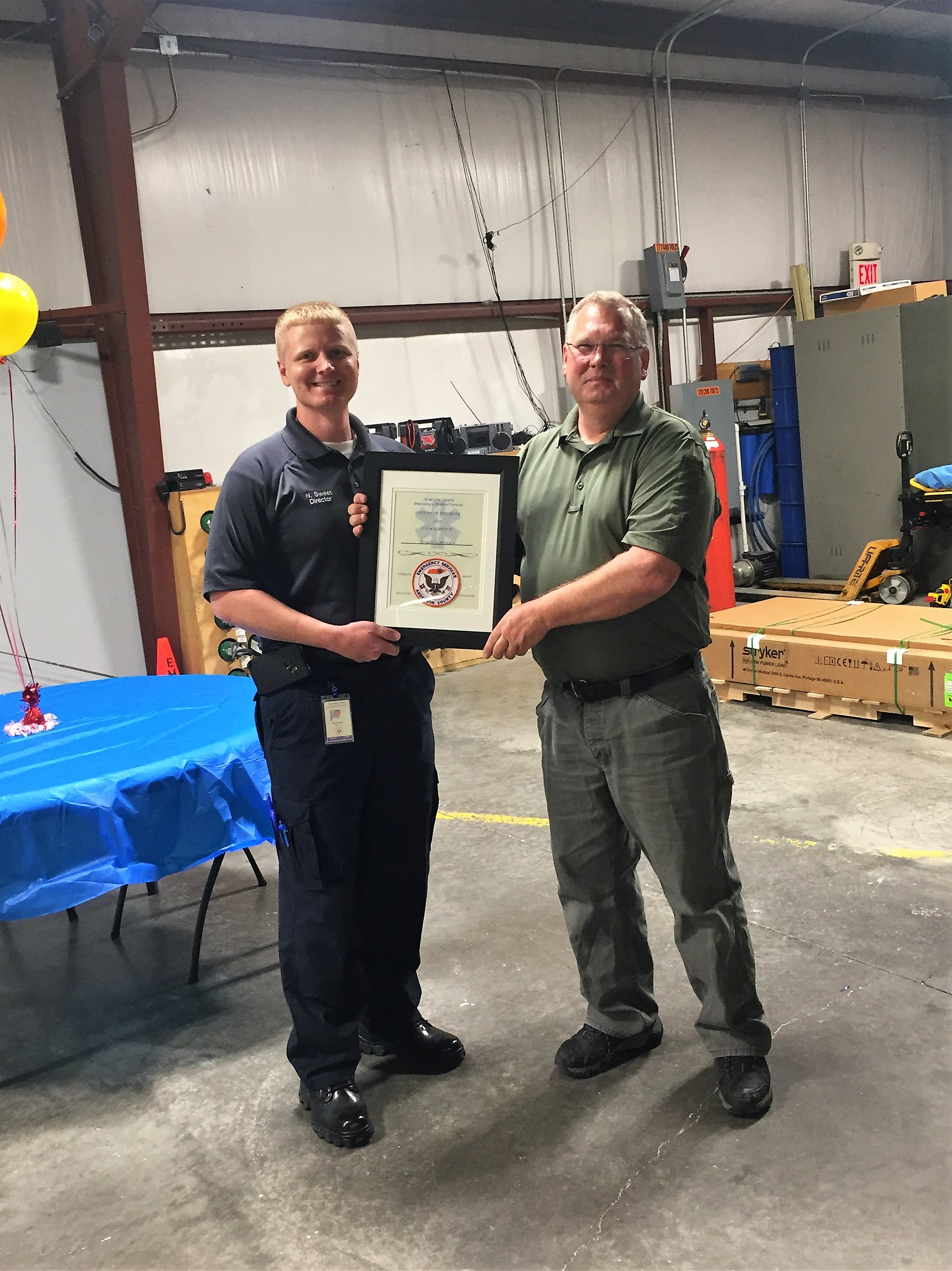 EMS Week 2020 Supervisor of Year