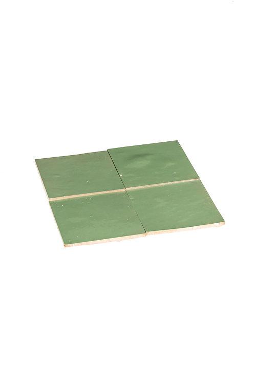 Zelliges Amande - 10 x 10 x 1.2 cm