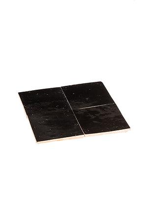 Zelliges Noir - 10 x 10 x 1.2 cm