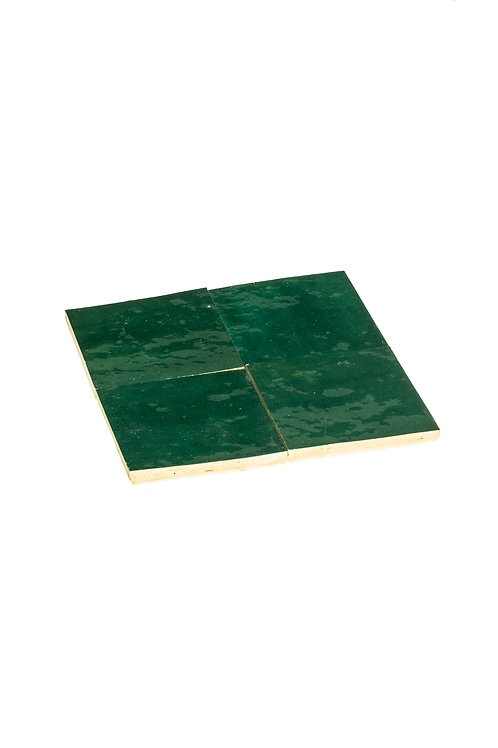 2 samples of Zelliges Vert Menthe - 10 x 10 x 1.2 cm