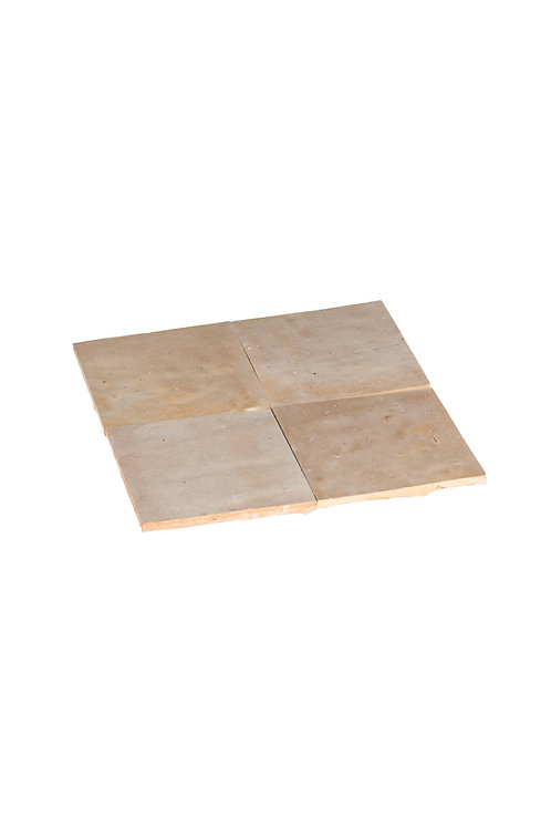 2 samples of Zelliges Gris Beige - 10 x 10 x 1.2 cm