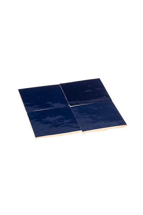 2 samples of Zelliges Bleu Nuit - 10 x 10 x 1.2 cm