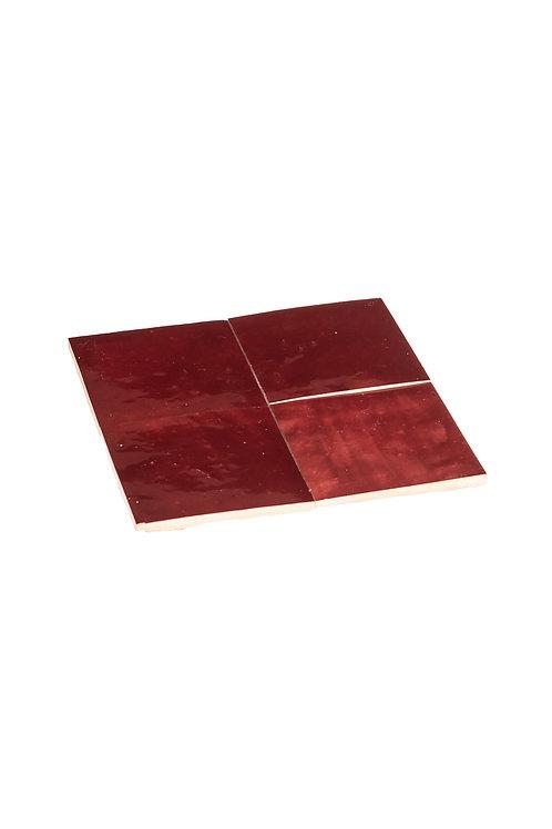 Zelliges Vin Rouge - 10 x 10 x 1.2 cm