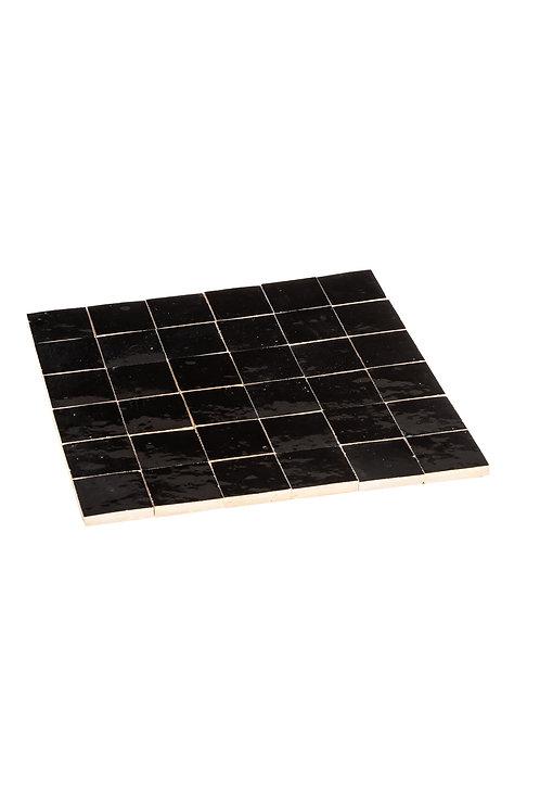 Zelliges Noir - 5 x 5 x 1.2 cm