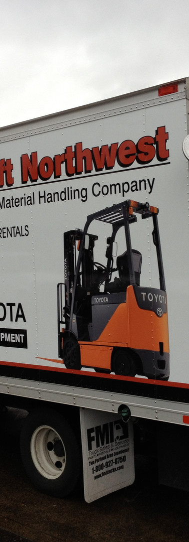 TOYOTA LIFT NORTHWEST FLEET GRAPHICS