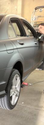 Mercedes Color Change Matte Black