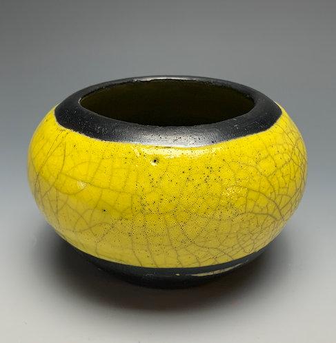 Vessel - Yellow Crackle and Smoke Blackened