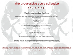 "THE PROGRESSIVE SOULS COLLECTIVE - ""SONIC BIRTH"" ALBUM REVIEW SUMMARY"