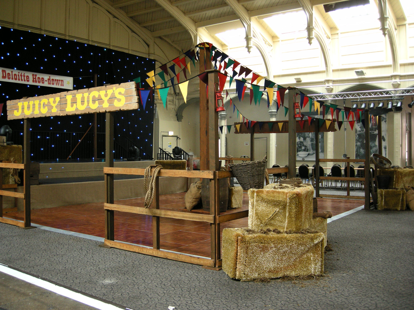 Large Corral Fence Prop Hire - Staging Services