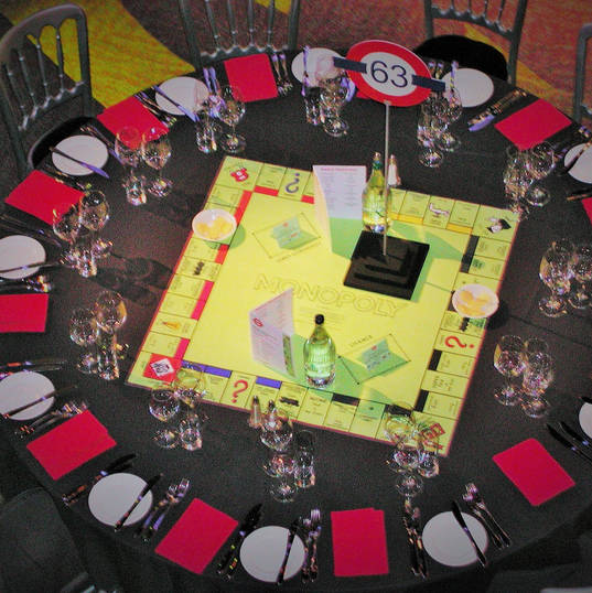 Monopoly Board Table Dressing