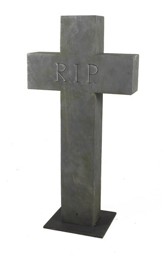 Burial Head Stone - prop hire - staging services