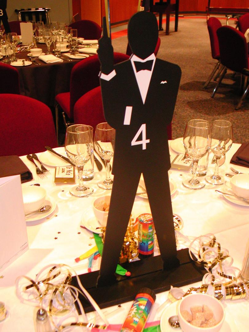 James Bond Table Centre Hire - Staging Services