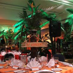 CAribbean Palm Tree Table Centres