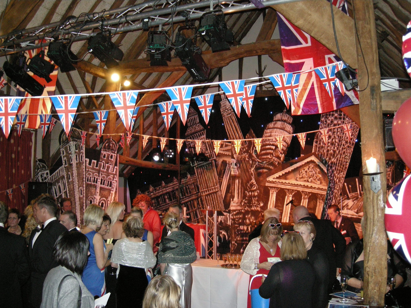 Union jack bunting - london prop hire - staging services