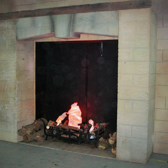 Medieval Fireplace Event Theming Stage & Set
