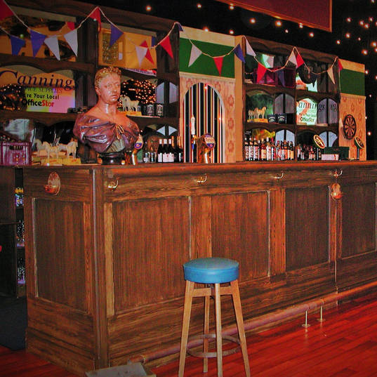 Queen Vic-Style Bar with Queen Vic Bust