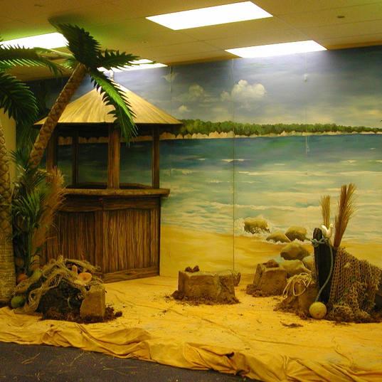 Caribbean Backdrop and Beach Bar Hire
