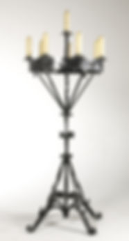 Floor Standing Wrought Iron Candelabra