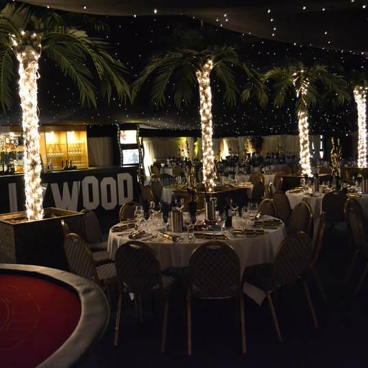 Hollywood Marquee Set for Dinner