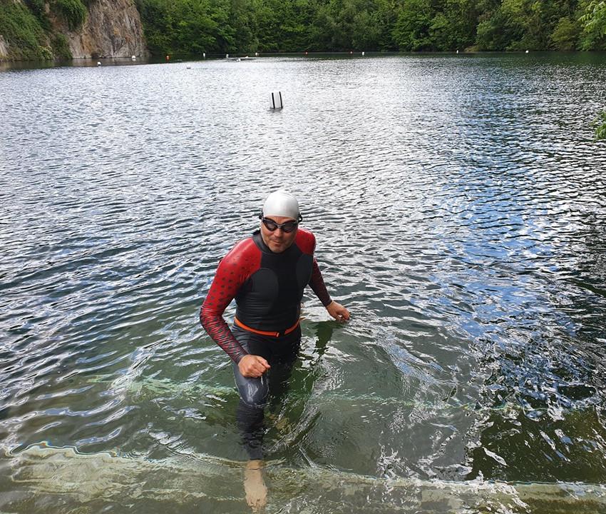 Richard Training at Dosthill Quary
