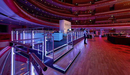 Event-Deck and LED Glass Balustrade covers stalls at Birmigham Symphony Hall