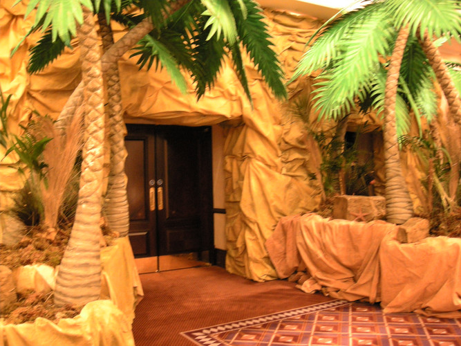 Egyptian Monument Entrance Prop Hire - Staging Services
