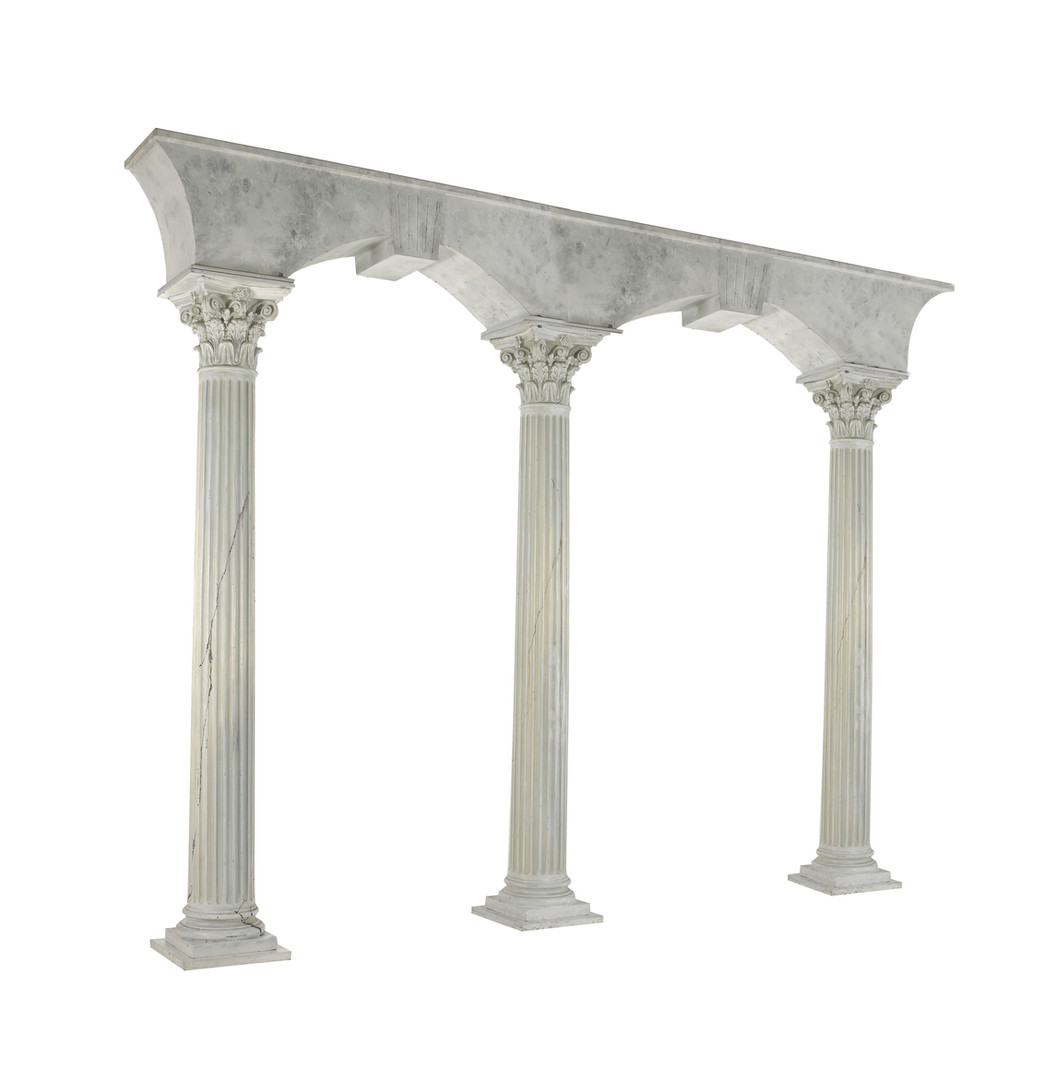 B&W - Marble Grained Archways Supported by Corinthian Columns.jpg