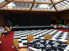 Black and White Dance Floor Hire - Staging Services