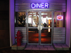 American Diner Entrance Prop Hire - Staging Services