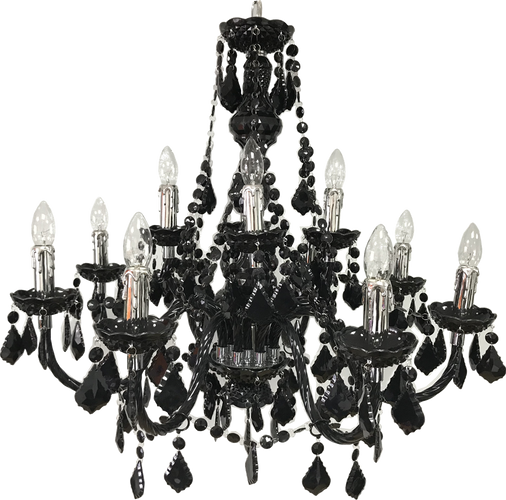 Black Chandelier Hire - Staging Services