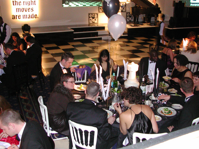 Chess Piece Table Centres - Hire - Staging Services