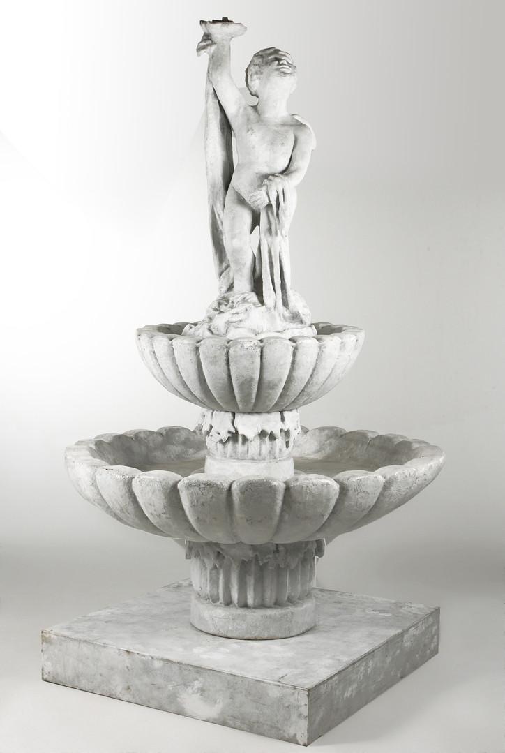 B&W - Marble Grained Ornate Fountain.jpg