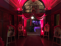Internal Red Drapes - Moulin Rouge - Staging Services