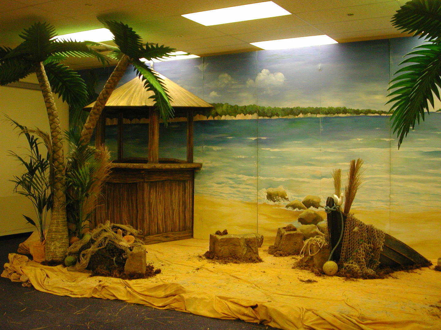 Wooden Beach Bar For Hire - Staging Services