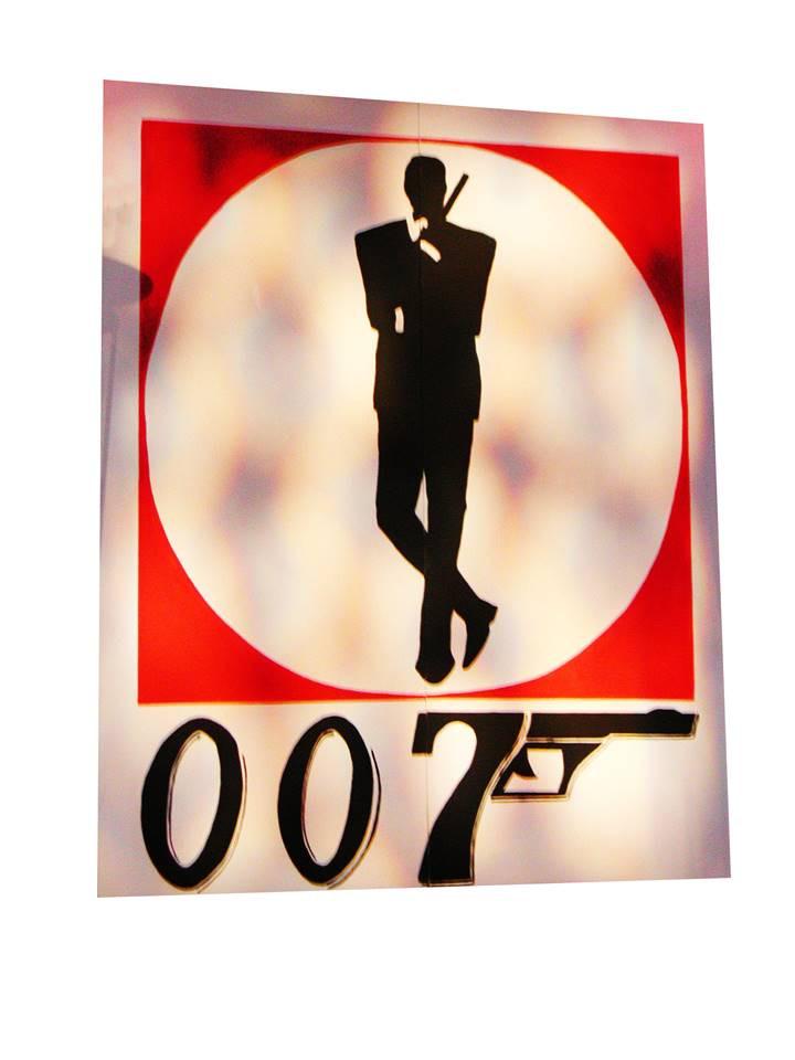 James Bond Backdrop Prop Hire - Staging Services